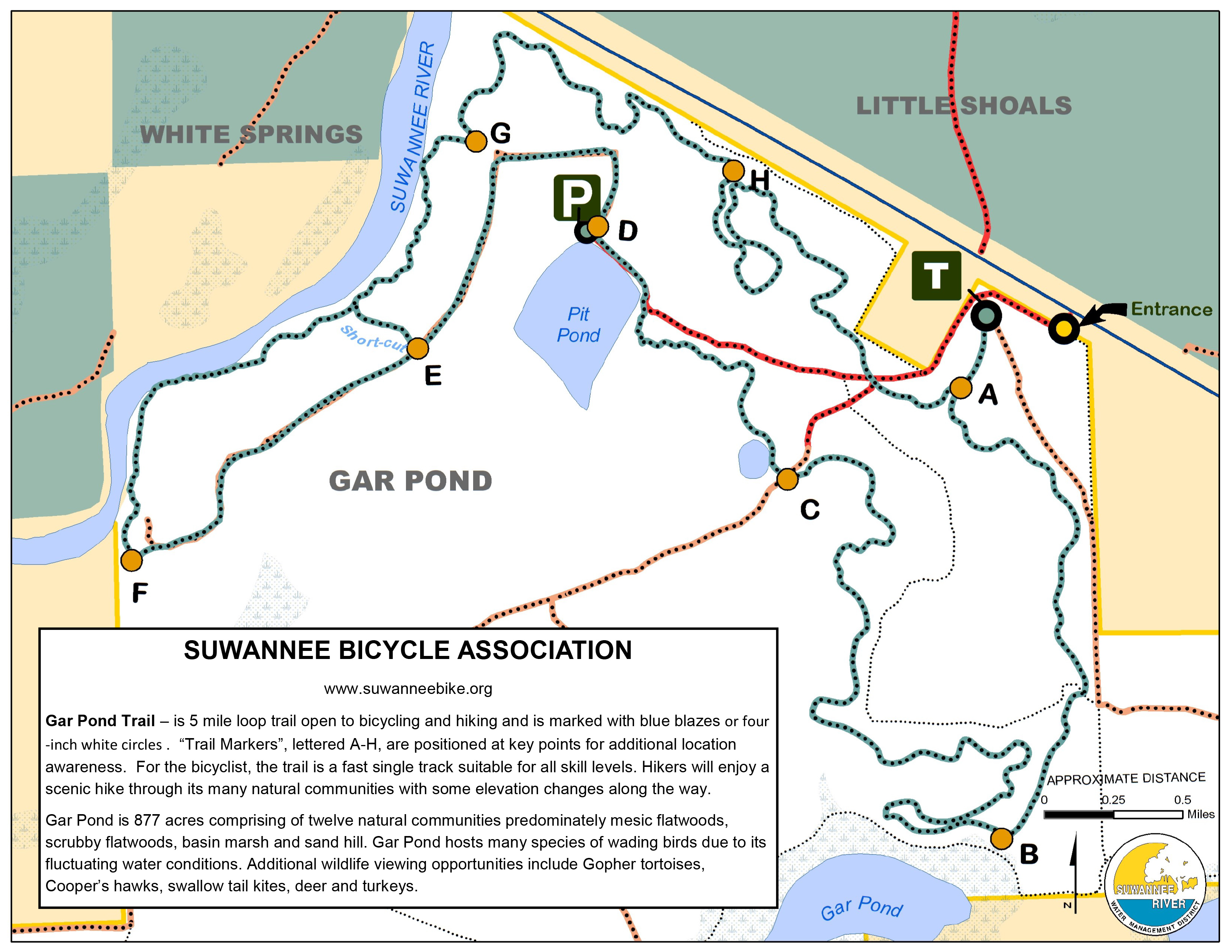 Gar Pond Map